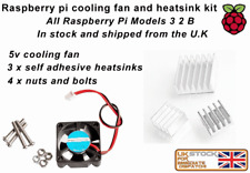 Aluminium Heatsink Set AND Cooling Fan Kit for All Raspberry Pi Models 3 2 B
