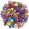 100 DIY Random Alphabet/Letter Acrylic Cube Spacer Loose Beads Jewelry Making Iy