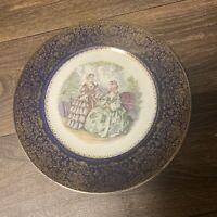 Vintage 1957 Imperial By Salem China Company Service Plate 23 kt. Gold