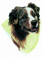Large Embroidered Zippered Tote - Australian Shepherd Bt2788