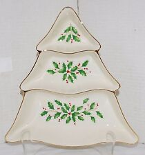 Lenox Holiday Tree 3 Section Divided Server ~ Large Size #6238729