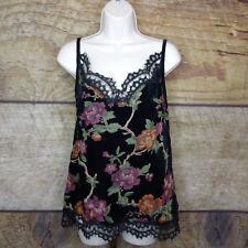 e1f3128461e9 Max Studio Womens Seraphine Black Velvet Lace Trim Camisole Top S BHFO 1656