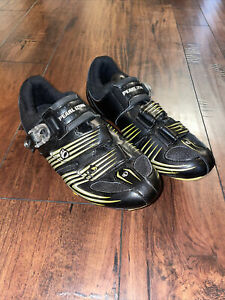 Pearl iZumi Interface Cycling Shoes Size 41.5 ( US 8.5 ) Black and Yellow