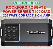REFURBISHED ROCKFORD FOSGATE COMPACT POWER T400X4AD 4-CH. AMP 200 WATT CLASS-AD