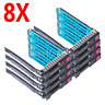 """8PCS HP 651687-001 WITH Chip LED 2.5"""" SFF SAS SSD Tray Caddy DL380p Server G8 G9"""