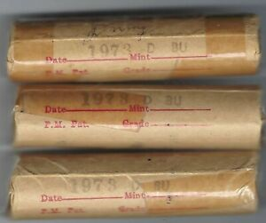 1973-D Denver Roll of Fifty Uncirculated Lincoln Copper Cent Coins