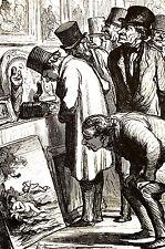 Honore Daumier 1972 - ART AUCTION - EXHIBITION - Vintage Print Matted - FINE