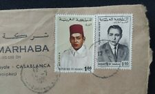 1971 MOROCCO TO PAKISTAN POSTALY USED COVER WITH STAMPS L@@K