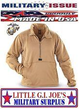 (Medium) NEW Peckham USMC Marine Polartec Grid Fleece Power Dry Shirt Pullover