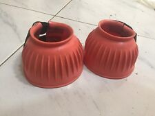 Roma PVC Ribbed Bell Boots, Size Cob, Colour Pink, Used Condition