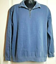 Comfort Colors Men's 1/4 Zip Long Sleeve Sweatshirt Blue Jean Size Medium NWOT