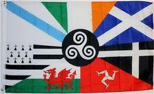 Celtic Nations Flag 3x5 ft Ireland Scotland Cornwall Manx Wales Brittany Galicia