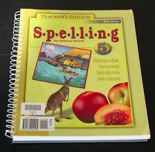 Spelling 5 BJU Press Teachers Edition Christian Schools Homeschool  Educational