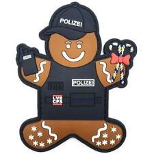 Polizei Lebkuchenmann Rubber Klett Patch