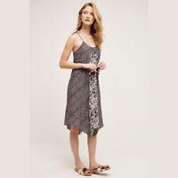 Anthropologie Maeve Womens Dress Size Small Black Swing Silk Blend Santee
