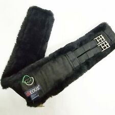 "NWT Eous 34"" Girth Genuine Australian Sheepskin Girth Black by Equisupplies"
