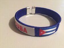 Cuba flag Bangle Bracelet-Blue