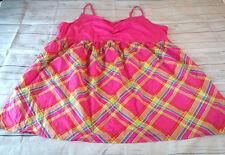 Cacique Intimates Sleepwear Pink Multi Color Baby Doll Nightie Size 30 32 New