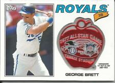 GEORGE BRETT 2017 TOPPS COMMEMOARTIVE 1977 ALL STAR GAME PATCH ROYALS ASL-GB