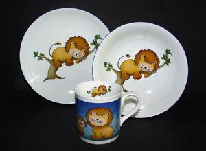 """Leo""  Kids Children Dinnerware Plates and Mug Kit"
