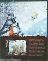 GUINEA 2014 CLIMATE CHANGE POLAR BEAR SOUVENIR SHEET  MINT NH