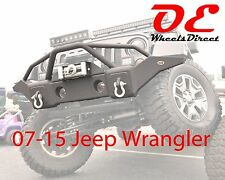 07-16 Jeep Wrangler JK Front Recovery 1 + Winch Plate ex Factory Fog KO Off Road