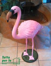 Fenicottero Rosa H cm 80 in Plastica Resina Flamingo Giardino