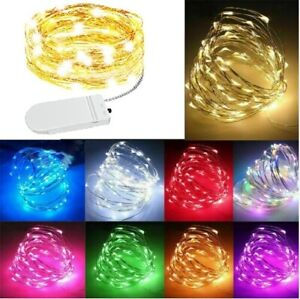 20/30/50 LED Battery Micro Rice Wire Copper Fairy String Lights Party Warm White