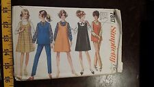 VINTAGE SIMPLICITY MATERNITY JUMPER PANTS PATTERN 7817 SIZE 14 FREE SHIPPING