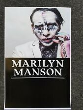 Marilyn Manson 11x17 promo tour concert poster tickets shirt