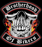 biker patch brotherhood of bikers backpatch 30x27cm mc. Black Bedroom Furniture Sets. Home Design Ideas