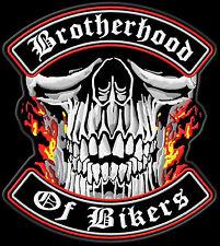 Brotherhood of Bikers Patch Aufnäher XL 30x27cm-Top Qualität US Import Kutte MC