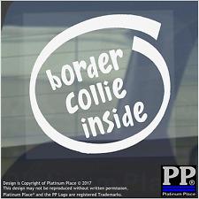 1 x Border Collie all'interno-Finestra, Auto, Furgone, STICKER, SEGNO, Adesivo, Cane, Pet, a bordo,