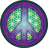Flower of Life Peace Sign (purple) - Bumper Sticker / Decal