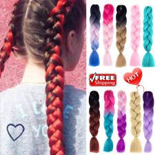 "24"" Synthetic Braids Crochet Braids Hair Kanekalon Jumbo Twist Braids Any Colors"