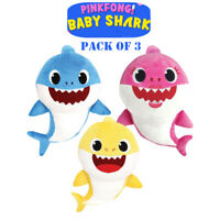 3pcs 26cm Baby Shark Softtoy Plush Toy Doll Popular English Song Kids NoMusic AU