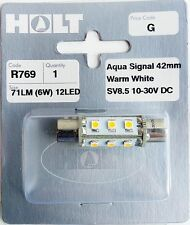 Holt R769 Aqua Signal 42mm Warm White 12 LED Bulb