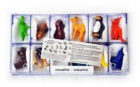 Zoo Tiere  -  Leibnitz Ü-Ei Satz 1994 mit 1 BPZ und Box