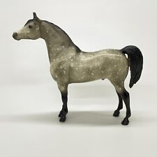"Breyer U.S.A. 10"" Proud Arabian Stallion Dapple Gray Speckled Black Legs & Tail"