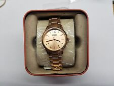 FOSSIL ROSE GOLD DIAL ROSE GOLD STAINLESS STEEL LADIES WATCH BQ3075 NEW DISPLAY