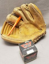Vintage Baseball Glove LHC Brand AND New Vintage Worth Baseball