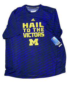 Adidas Hail To The Victors Michigan Shirt Men's Size 2XL NWT