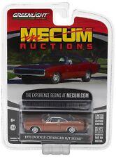 2017 GREENLIGHT 1:64 *MECUM AUCTIONS* BRONZE 1970 Dodge Charger HEMI R/T *NIP*