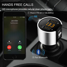 Bluetooth 4.0 Wireless Handsfree Car FM Transmitter MP3 Player 2 USB Charger Kit