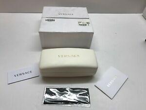 VERSACE Logo Sunglasses / Eyeglasses Hard Case Hardcase White Large Versace