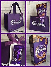 Cadbury Dairy Milk Large Eclairs Chocolate Gift Set Tote Bag Gift Tag Present