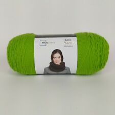 1 Skein Mainstays Basic Yarn Green Knitting Blanket Yarn 100% Acrylic 7oz