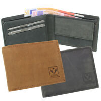 Herren Vintage Leder Geldbörse Geldbeutel Portemonnaie Börse Querformat RFID