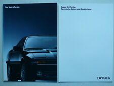 Prospekt Toyota Supra Turbo, 12.1988, 16 Seiten + technische Daten/Ausstattung