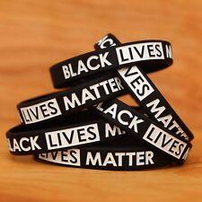 10 Child Size Black Lives Matter Wristbands - Awareness Wrist Band Bracelets